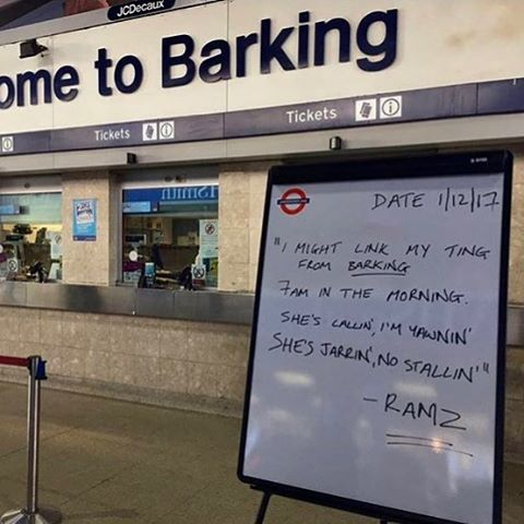 Ramz' TFL Board at Barking Station