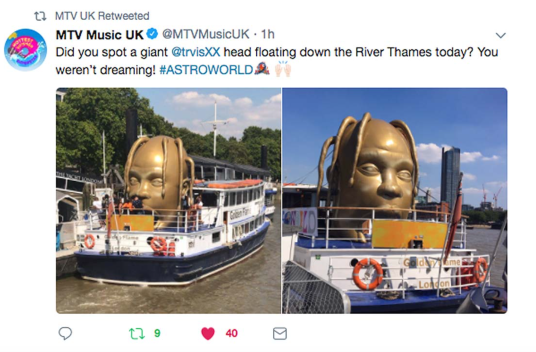 MTV Coverage of the Astroworld boat